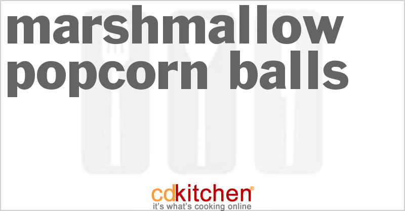 Marshmallow Popcorn Balls and more recipes