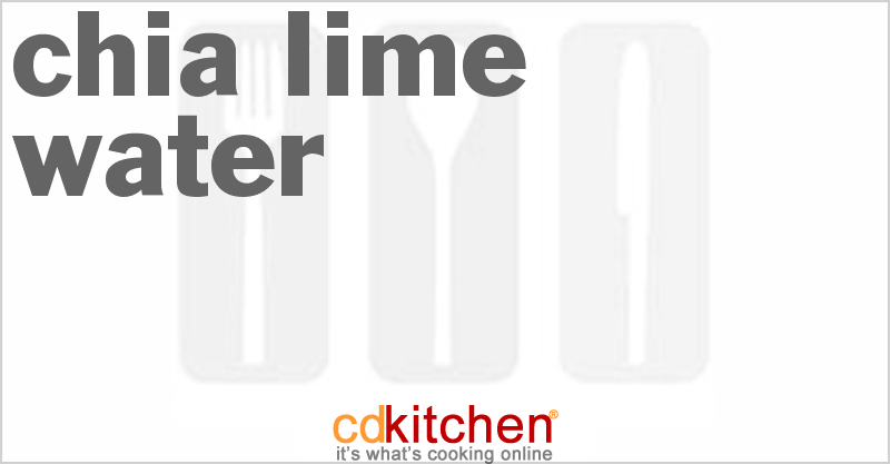 Chia Lime Water Recipe from CDKitchen