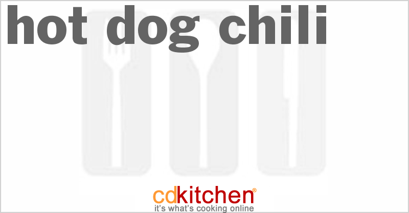 Hot Dog Chili and more recipes