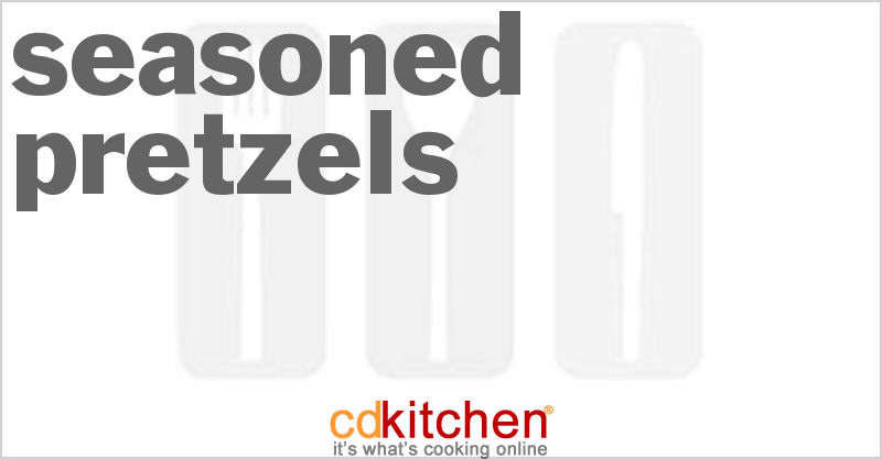 Seasoned Pretzels and more recipes