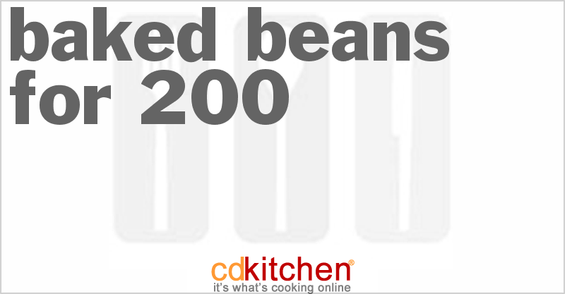 Baked Beans for 200 and more recipes