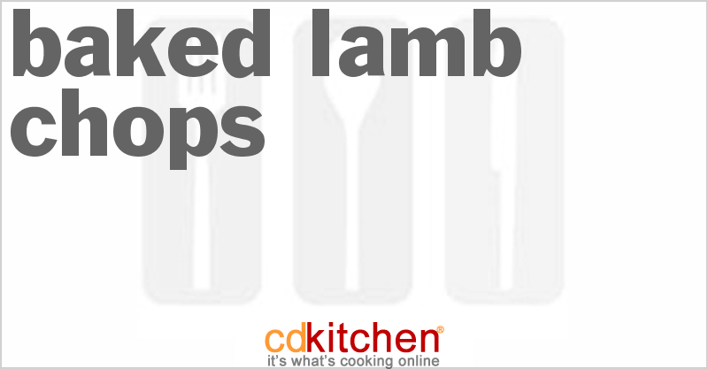 Baked Lamb Chops and more recipes