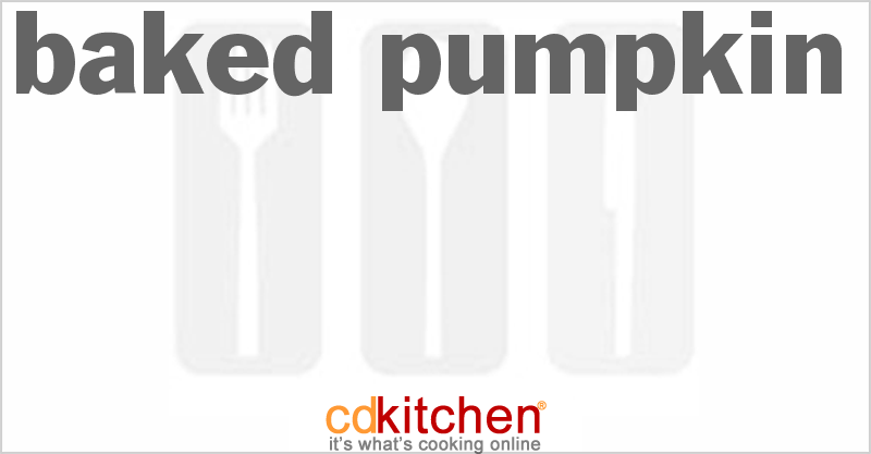 Baked Pumpkin and more recipes