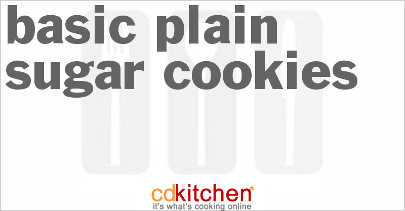 Basic Plain Sugar Cookies and more recipes