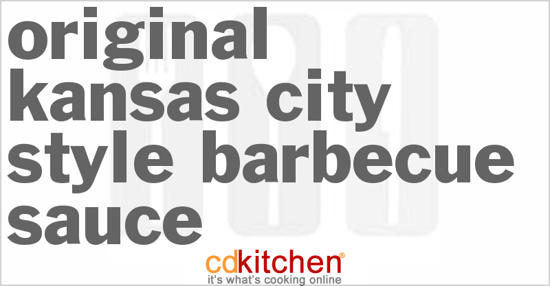 Original Kansas City Style Barbecue Sauce Recipe from CDKitchen.com