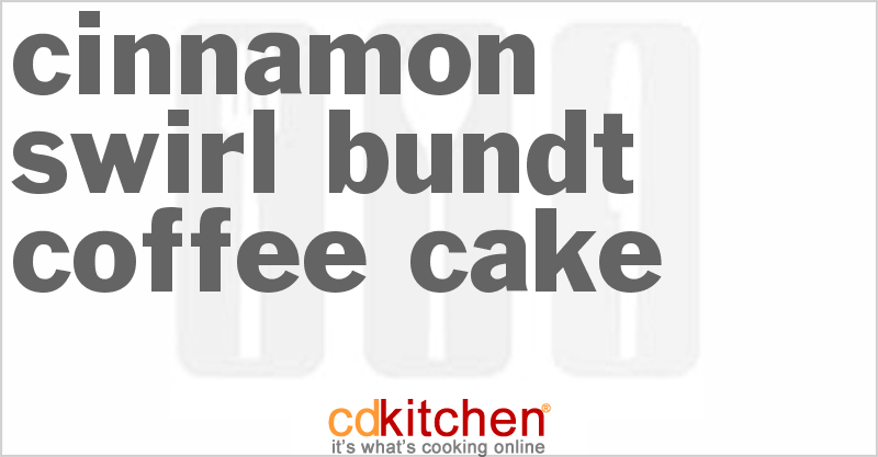 Cinnamon Swirl Bundt Coffee Cake Recipe from CDKitchen