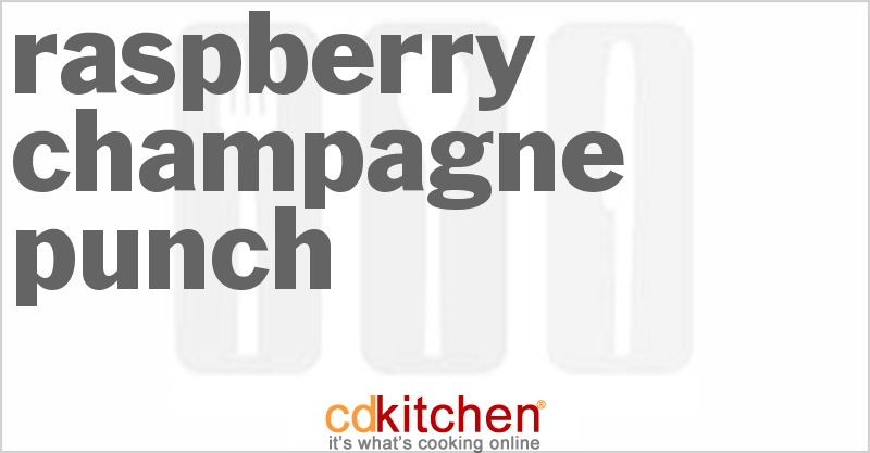 Raspberry Champagne Punch Recipe from CDKitchen