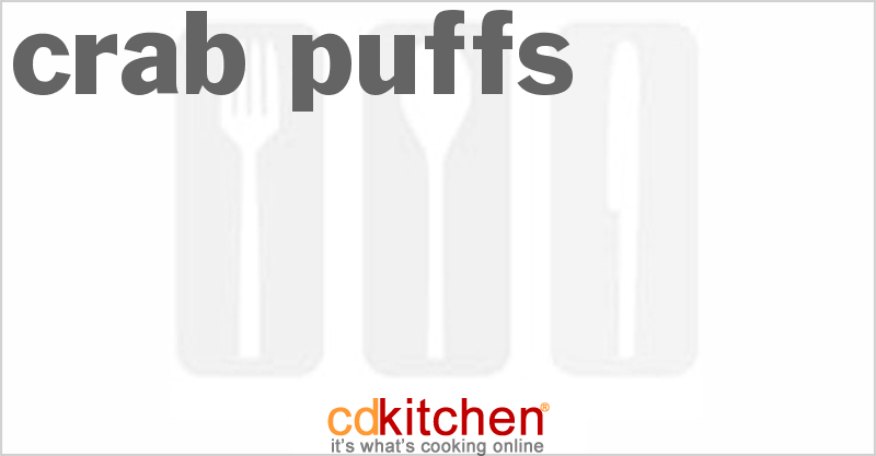 Crab Puffs and more recipes