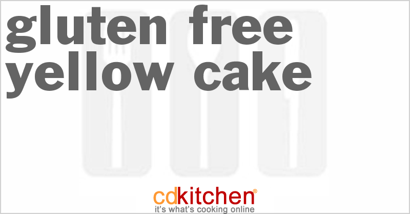 Gluten Free Yellow Cake Recipe | CDKitchen.com