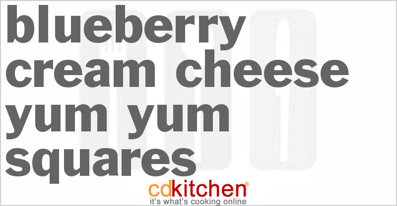 Blueberry Cream Cheese Yum-Yum Squares Recipe from CDKitchen.com