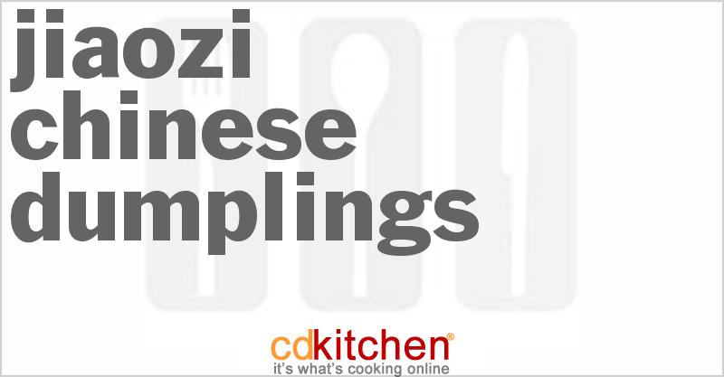 Jiaozi - Chinese Dumplings Recipe from CDKitchen