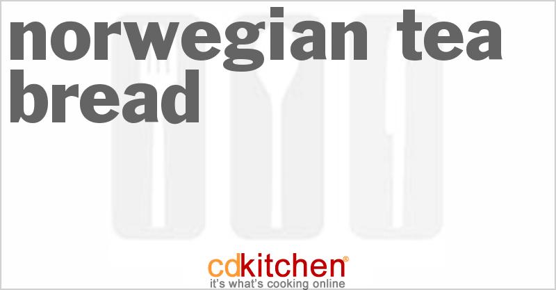Norwegian Tea Bread Recipe from CDKitchen