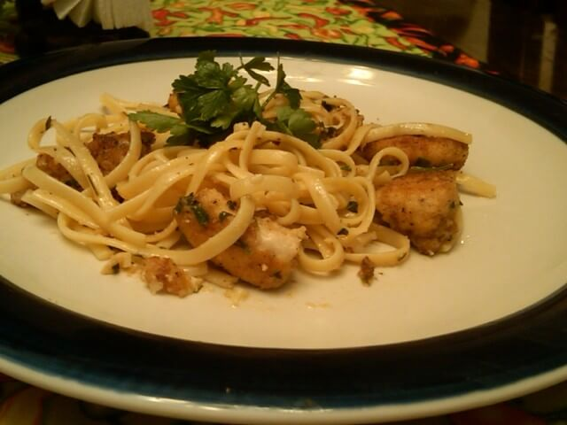 Chicken Scampi With Linguine Recipe Cdkitchen Com