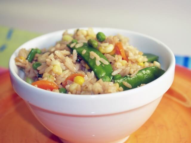 recipe for fried brown rice and vegetables