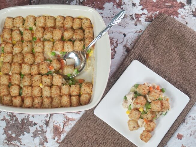 recipe for chicken tot pie