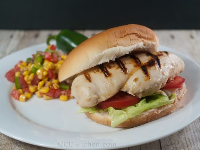 recipe for jalapeno grilled chicken sandwiches