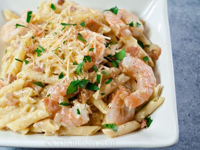 recipe for mama melrose's ristorante italiano shrimp carbonara