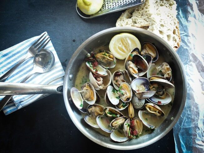 recipe for littleneck clams with oil and garlic