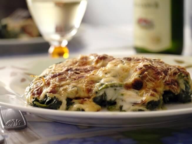recipe for muenster-spinach pie