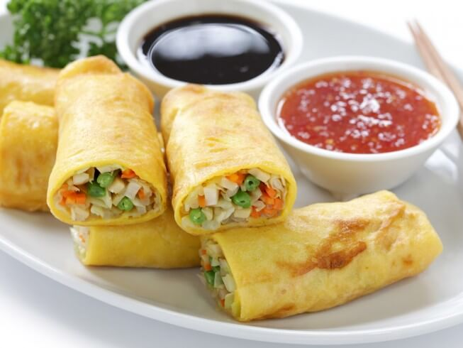 recipe for pan-fried egg roll wrappers