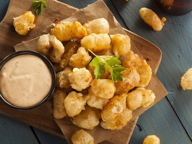 recipe for deep-fried cheese curds