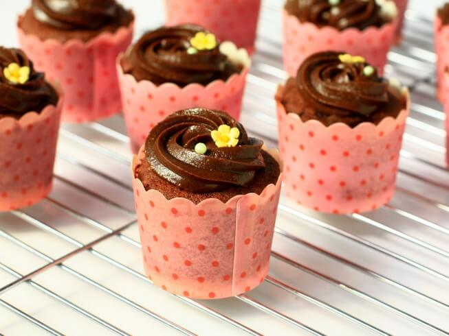recipe for dark chocolate red beet cupcakes