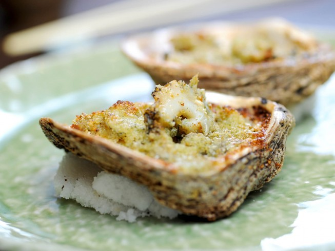 recipe for blue cheese oysters