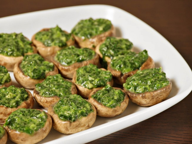 recipe for spinach souffle stuffed mushrooms