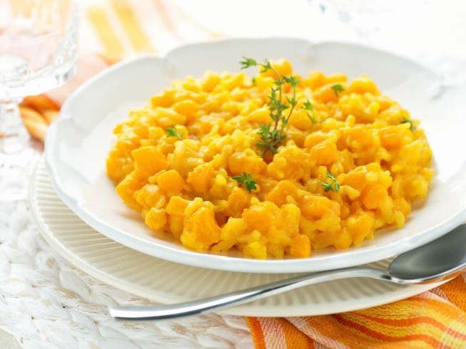 recipe for pumpkin and soybean risotto