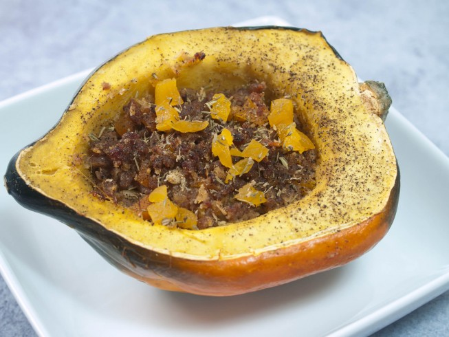 recipe for sausage stuffed acorn squash